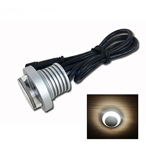 Blanc naturel : 1 W 12 V 24 V IP67 spot LED étanche plafonnier extérieur encastré mini spot LED éclairage escalier luminaire 12 pièces par lot