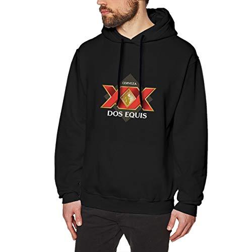 YJQAZO Mode Männer 's Kapuzenpulver DOS Equis Logo Locker SweatshirtBlack Black Grafik Für Mans Sweatshirt