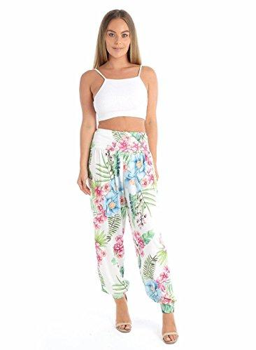Women's Harem Trousers Ali Baba Long Ladies Girls Pants Baggy Floral Leggings Plus Size 8-22