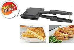 Lavanya Enterprises Metal Non-Electric, Non Stick Coating Snack and Sandwich Gas Toaster/Sandwich Maker (Multicolour)