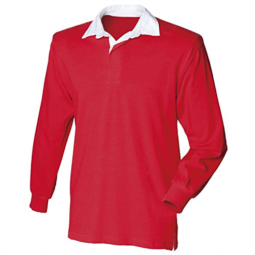 Front Row Long sleeve original rugby shirt Burgundy