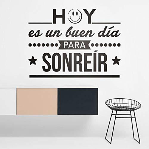 Hoy Es Un Buen Dia Para Sonreir Spanisch Frase Zitate Wand Vinyl Aufkleber Inspiration Schriftzug Wandbilder QU57 * 43 ()