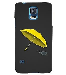 Citydreamz Yellow Umbrella\Rain Hard Polycarbonate Designer Back Case Cover For Samsung Galaxy S5