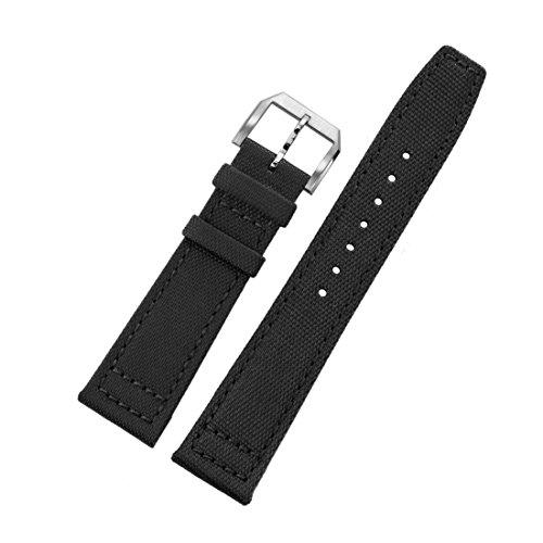 20mm schwarz ballistischem Nylon Uhrenarmbänder Männer High-End-Uhren Aviator NATO Stil (Iwc-uhr)