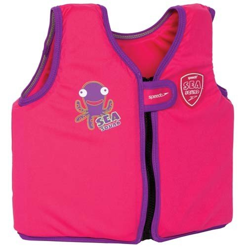 Speedo Sea Squad Kids Swim Vest Junior Pool Training schwimmen lernen Schwimmen Top Rosa rose 3-4 years