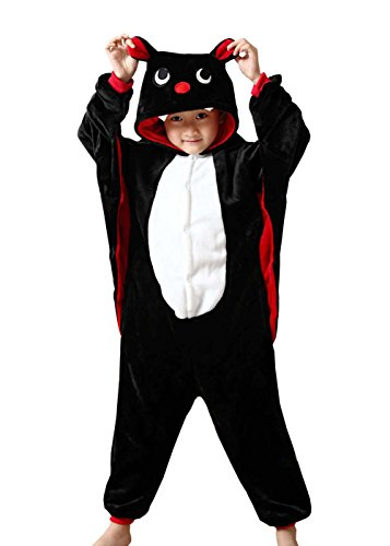 Rojean Kinder Fledermäuse Pyjamas Tier Kostüm Onesie Kinder Schlaf Tragen Cosplay Weihnachten Halloween Geschenk für Mädchen und (Gemütliche Kleid Kostüme Fledermaus Kind)