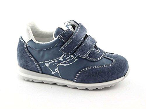 BLACK GARDENS JUNIOR 23820 22/24 blaue Babyschuh-Turnschuh Tücken Blu