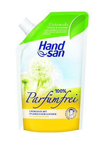 Wesentlicher Schutz Für Die Haut (Handsan Cremeseife 100% PARFÜMFREI im Nachfüllbeutel 300 ml / Cremseife seifen- und parfümfrei Nachfüllbeutel im 6er Vorratspack (6 x 300 ml))
