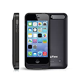 iFans iPhone SE/5s Charger Case [MFi Certified] Slim Battery Pack (2400mAh)