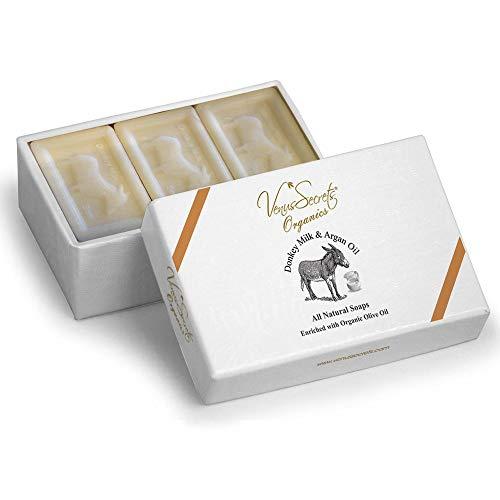 Venus Secrets - Pastilla jabón natural leche burra