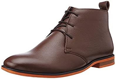 BATA Men's Bill Brown Leather Boots - 9 UK/India (43 EU) (8044193)