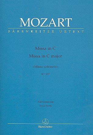 Wolfgang Amadeus Mozart: Messe C-Dur (Missa solemnis) KV 337 für Soli, Chor und Orchester -- Klavierauszug mit Bleistift nach dem Urtext der Neuen Mozart-Ausgabe (Noten/sheet music)