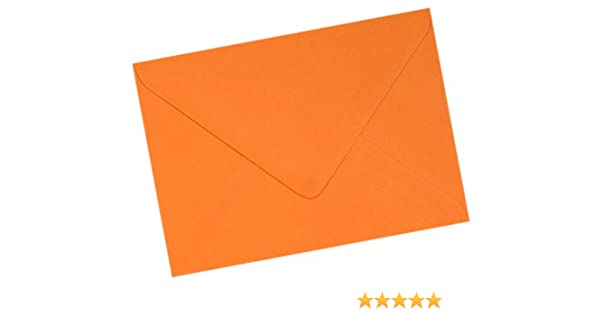 Mayfair Crafts Lot de 50 enveloppes premium Format A6 C6 Spanish Orange