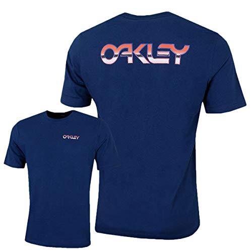 Oakley T-Shirt B1b Chrome Dark Blau (Large, Dunkelblau)