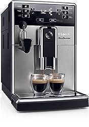 Saeco HD8924/01 PicoBaristo Kaffeevollautomat, AquaClean, automatischer Milchaufschäumer, silber