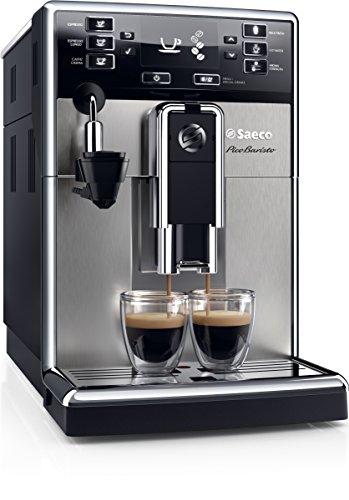 Saeco HD8924/01 PicoBaristo - Macchina per caffè, completamente automatica, AquaClean, Montalatte automatico, Argento