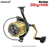 Deukio 6 + 1 Bearings Spinning Reel Sh10000 / 12000 Weitwurf Angelrolle 20Kg Drag Metallspule Links...
