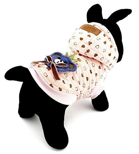 selmai kaltem Wetter Fell Klein Katze Hund Kleidung Winter Fleece Jacke Kapuzen Jacke Hooded Pet Kostüm Bär Puppe Pink (Katze Auf Dem Rücken Hund Kostüme)
