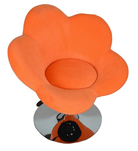 "Barhocker ""orange Blume"" in Blumenform Lounge Sessel Barsessel Clubsessel Cocktailsessel Drehsessel - 2"
