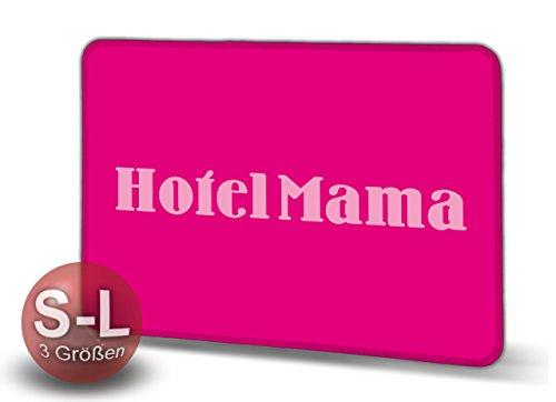 Hotel Mama - Schmutzmatte Bodenvorleger Fußmatte Türmatte Abtreter Abstreifer gekettelter Rand Rutschfest waschbar individuell, Mattengröße:70 cm x 50 cm