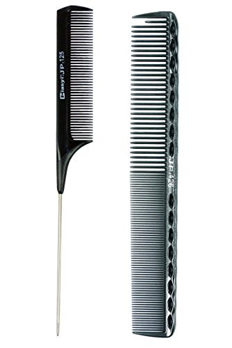 salon-hairdressing-styling-professional-tool-sharp-tail-combs-and-carbon-comb-2-count-black