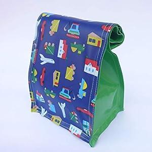 Kleine Kulturtasche für Kinder, LKW Plane, verschließbar per Druckknopf
