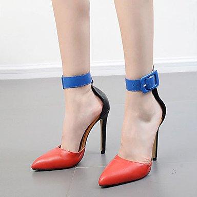 Sanmulyh Femmes Printemps Chaussures Simili-cuir Automne Confort Nouveauté Bottes De Mode Bootie Talons Talon Stiletto Hollow-out Pour Mariage Rouge Casual Rouge