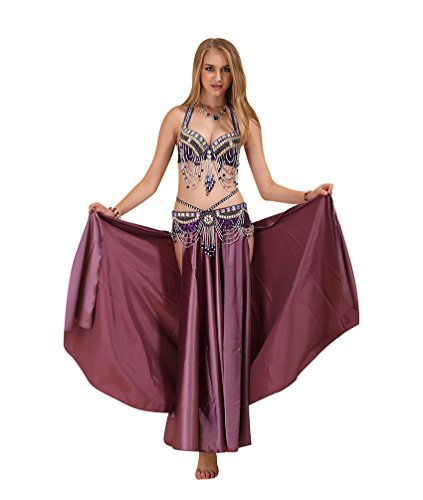 SunWanyi Frauen Sexy Tanz Kleidung Set Bauchtanz Kleidung Bauchtanz Tribal Oriental Arabian Belly Dance Rock(Referenz Beschreibung) (Referenz Kostüm)