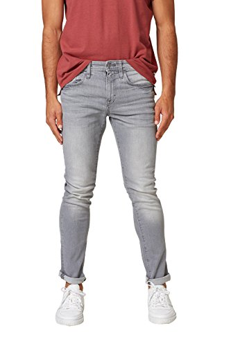 edc by ESPRIT Herren Skinny Jeans 028CC2B006, Grau (Grey Light Wash 923), 34/34 (Fit-light Wash Jeans)