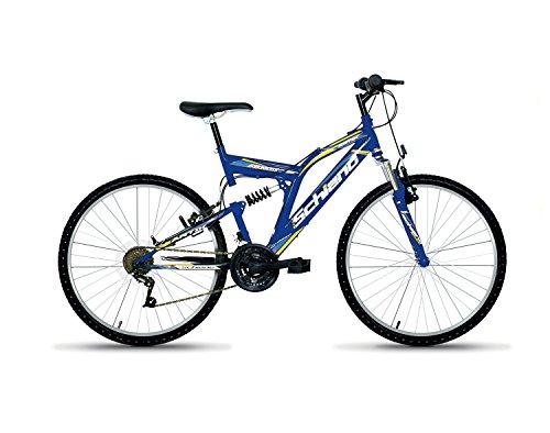 """F. lli Schiano Artik Bicicletta biamortiguada 18V, Uomo, Celeste/Blu, 24"""""""