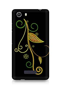 Amez designer printed 3d premium high quality back case cover for Micromax Unite 3 (Abstract Dark 10)