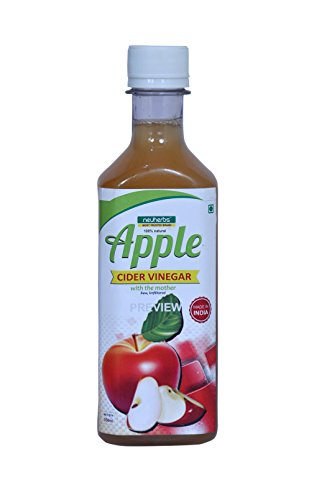 Neuherbs 100% Natural Apple Cider Vinegar with Mother of Vinegar - 350ml  available at amazon for Rs.179