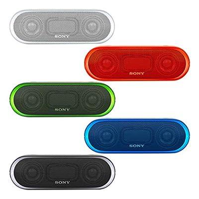 Sony tragbarer kabelloser Lautsprecher (farbige Lichtleiste, Extra Bass, Bluetooth, NFC, wasserabweisend, bis zu 12 Stunden Akkulaufzeit, Wireless Party Chain)