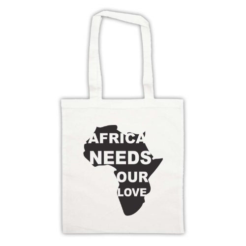Africa esigenze Our Love Protest Slogan Tote Bag Bianco