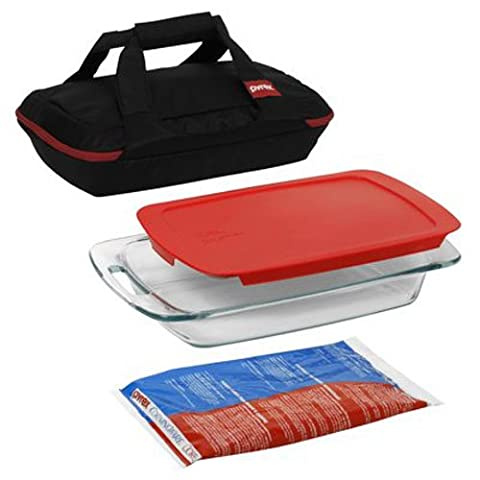Pyrex Portables 4-Piece Glass Bakeware and Food Storage Set by Pyrex