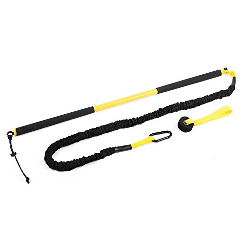 Klarfit Riprider Rip Trainer Schlingentrainer (9kg Zugkraft, inkl. Karabiner & Türhaken, Transportbeutel) schwarz-gelb