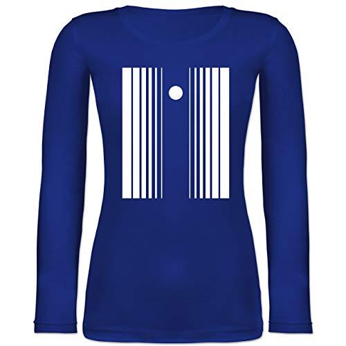 Effekt Kostüm Doppler - Shirtracer Karneval & Fasching - Doppler-Effekt - L - Blau - BCTW071 - Langarmshirt Damen