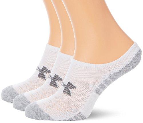 Under Armour Damen Heatgear Tech Noshow 3PK Sport Bra, White, YMD (Heatgear Damen Socken)