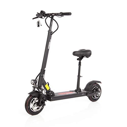Wizzard Elektro City Scooter 2.5S mit Sitz E Roller mit 40 Km/h Geschwindigkeit und 50 Km Reichweite (Weiß, 2.5S-SEAT)