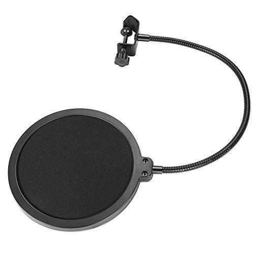 Popfilter für Mikrofon, drehbar, mit doppelter Schallschutz, Windschutzscheibe, Popfilter für Aufnahmen, Studio-Mikrofon