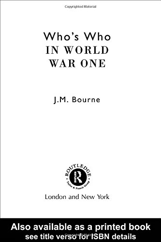 Who's Who in World War I (Who's Who Series) -