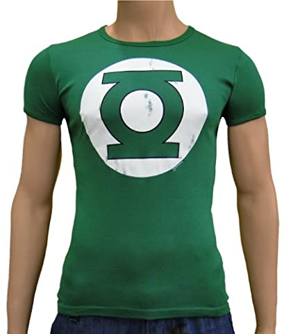 Green lantern slim vintage comic t-shirt à xS-xXL Vert Vert s