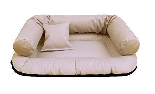 tierlando® W1-14 Hundesofa WATSON | fest gewebtes Polyester | Hundebett Hundekorb | Gr. S 65 cm Kakao-Beige (Kakao Hundebett)