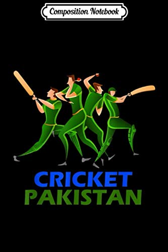 Composition Notebook: Pakistan Cricket 2019 Fan Jersey Journal/Notebook Blank Lined Ruled 6x9 100 Pages