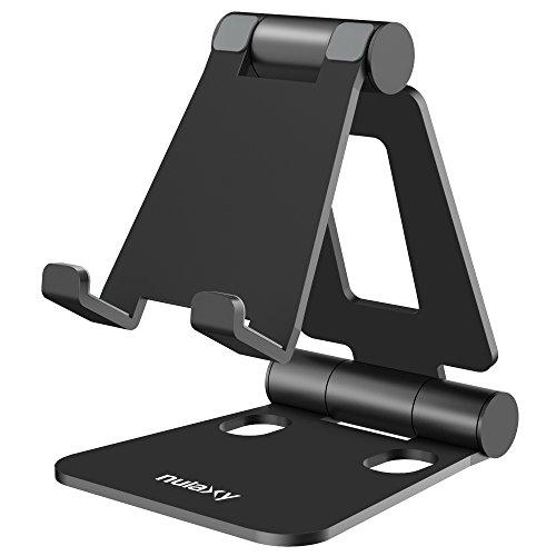 """Nulaxy iPhone Ständer, Tablet Ständer Verstellbare Handy Ständer für iPad Pro Nintendo Schalter E-Reader und Google Nexus Samsung Galaxy Android Smartphones Tabletten 4-10"""""""