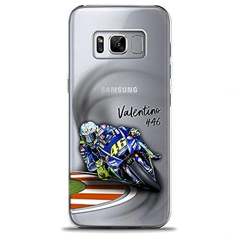 S8 Couverture Coque Cover TPU GEL TRANSPARENT, doux, garde, protecteur, MotoGp Collection Spéciale, Valentino Rossi, Galaxy