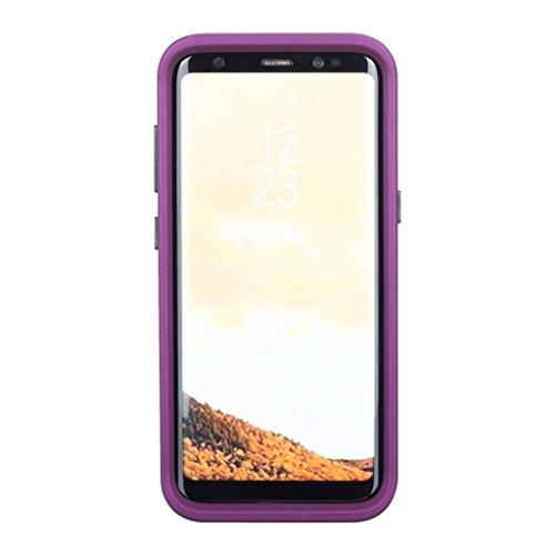 MuSheng For Samsung Galaxy S8 Plus Hülle Case,Luxus Glitter Sparkle Designer Fälle Bilden Stoßfeste Robuste Karte Hart PC Kasten Hülle für Samsung Galaxy S8 Plus (Lila)