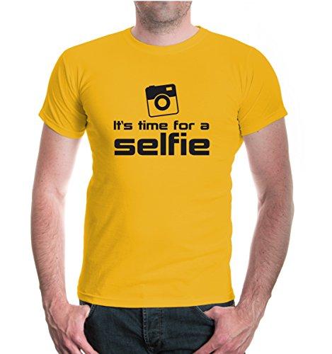 buXsbaum® T-Shirt It s time for a selfie Sunflower-Black