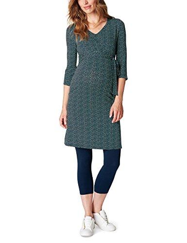 ESPRIT Maternity Damen Umstands Kleider Dress Nursing Aop P84279, Mehrfarbig (Night Blue 486), 38 (Herstellergröße:M)