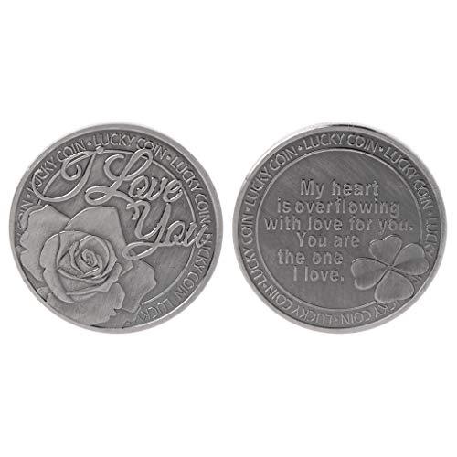 nikunty Ich Liebe Dich Glück Gedenkmünze Souvenir Challenge Sammlerstück Münzen Sammlung Kunsthandwerk Geschenke -